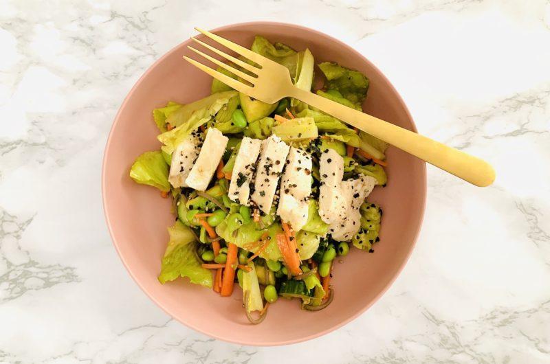 Soba Noodle Chicken Salad with a Ginger + Garlic Vinaigrette