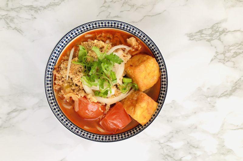 Bun Rieu {Vietnamese Crab and Tomato Noodle Soup}